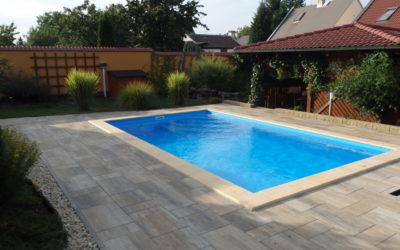 Stavba bazénu – Březno u Chomutova