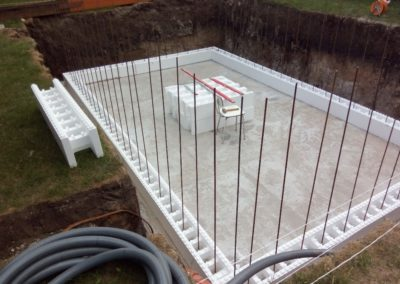 Výstavba bazénu - Březno u Chomutova