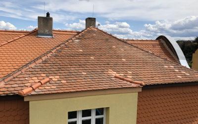 Oprava střechy na MŠ. – Březno u Chomutova