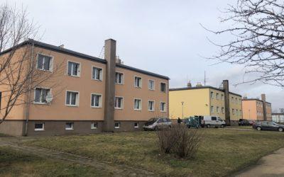 Oplechování pod atikou – Bytové domy Nechranice